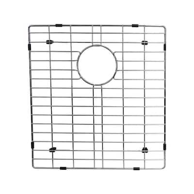 17 in. x 15.8 in. Kitchen Sink Bottom Grid in Stainless Steel