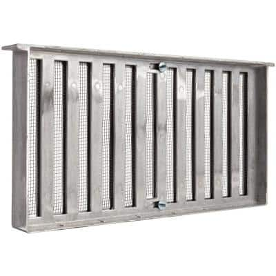 16 in. x 8 in. Die-Cast Aluminum Grate Style Foundation Vent in Mill
