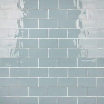 Castillo Sky 3 in. x 6 in. Ceramic Subway Wall Tile (5.67 sq. ft. / case)