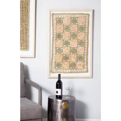 Abstract Checkerboard Rope and Wood Wall Art