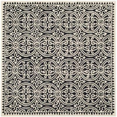 Cambridge Black/Ivory 8 ft. x 8 ft. Square Area Rug