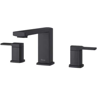 Deckard 2-Handle Deck-Mount Roman Tub Faucet Trim Kit in Matte Black