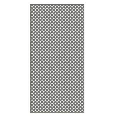 4 ft. x 8 ft. Nantucket Gray Privacy Diamond Vinyl Lattice - Framed