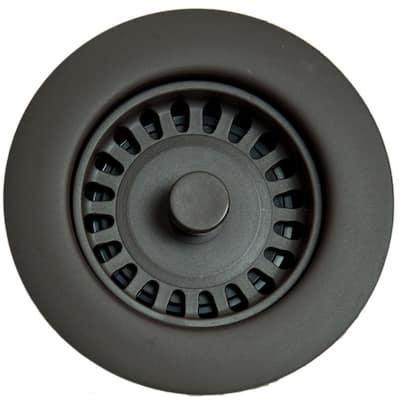 Xenoy Plastic Molded Garbage Disposal Stopper/Strainer for Granite Sinks in Oil Rubbed Bronze