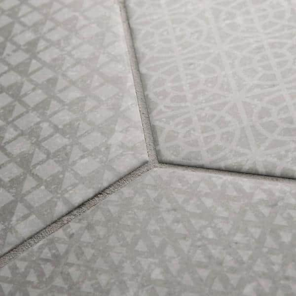 Merola Tile Take Home Tile Sample Coralstone Hex Melange Grey 11 1 2 In X 10 In Porcelain Floor And Wall S1feqcsxmg The Home Depot