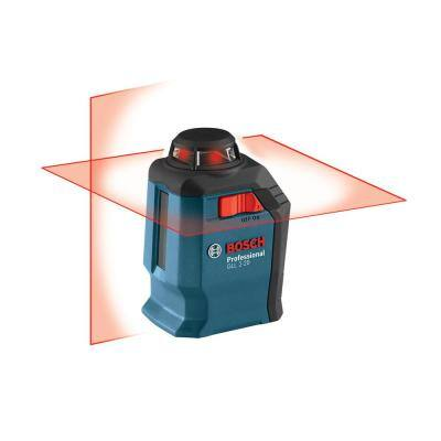 65 ft. 360-Degree Horizontal Cross Line Laser Level Self Leveling with Fine Adjustment Mount and Hard Carrying Case