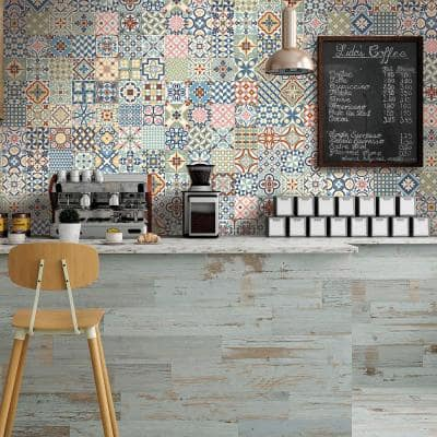 Heritage 6.5 in. x 6.5 in. Mix Glazed Porcelain Floor and Wall Tile (5.92 sq. ft. / Case)