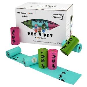 Rainbow Lavander Premium Pet Poop Bags (720-Count, 48-Roll)