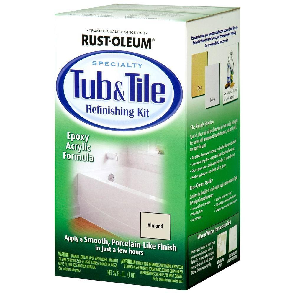 1 qt. Almond Tub and Tile Refinishing Kit
