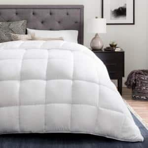 Down Alternative Reversible Quilted King Comforter in White