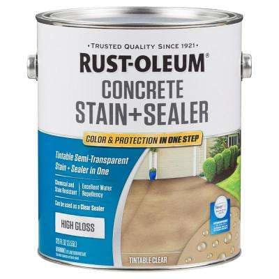 1 gal. Clear High Gloss Concrete Water Repellent Interior/Exterior Sealer (2-Pack)