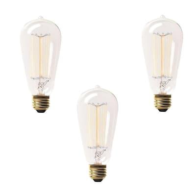 60-Watt Incandescent S19 Light Bulb (3-Pack)
