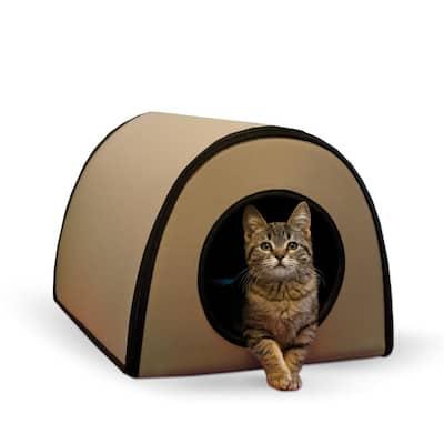 21 in. x 14 in. x 13 in. 25-Watt Tan Mod Thermo-Kitty Shelter