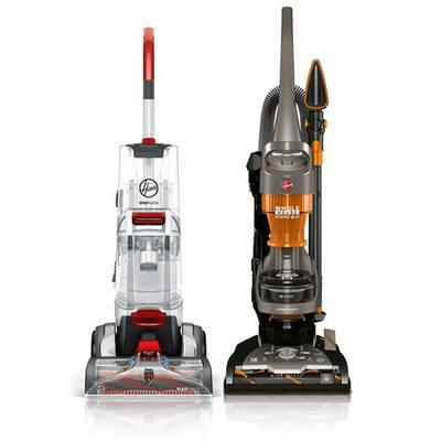 SmartWash Advanced Upright Carpet Cleaner and WindTunnel 2 Bagless Upright Vacuum Cleaner