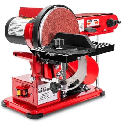 4 in. x 36 in. 2-in-1 Disc and Belt Corded Sander Benchtop Sanding Station with Adjustable Tilt and Dust Port