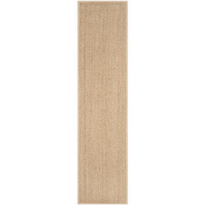Natural Fiber Tan/Beige 3 ft. x 18 ft. Indoor Runner Rug