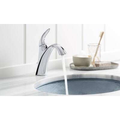Alteo Single Handle Single Hole Mid-Arc Water-Saving Bathroom Faucet in Polished Chrome