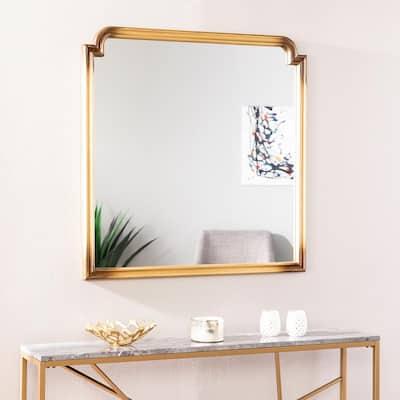 Medium Rectangle Gold Classic Mirror (36.25 in. H x 36 in. W)