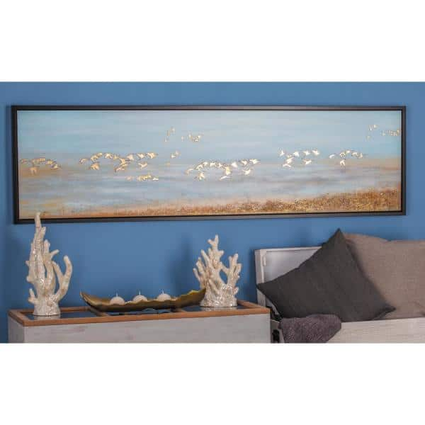 """Angry Birds Blue Canvas 10/""""x10/""""  Framed Picture"""