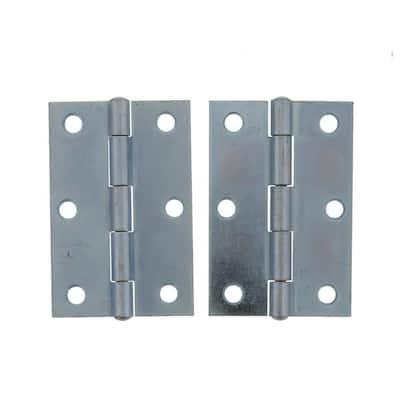 3 in. Zinc Narrow Utility Hinge (2-Pack)