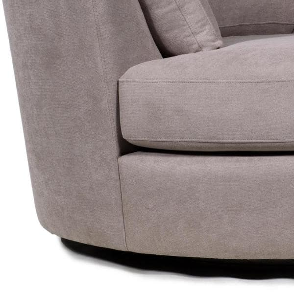 Boyel Living 54 In Light Brown Charcoal Fabric Swivel With Toss Pillows Round Barrel Chair Accent Chair Wf Hfsm 187l The Home Depot