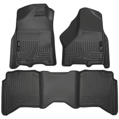 Front & 2nd Seat Floor Liners Fits 09-18 Ram 1500 Crew Cab