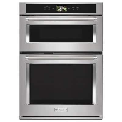 30 in. Electric Convection Wall Oven with Built-In Microwave and Powered Attachments in Stainless Steel