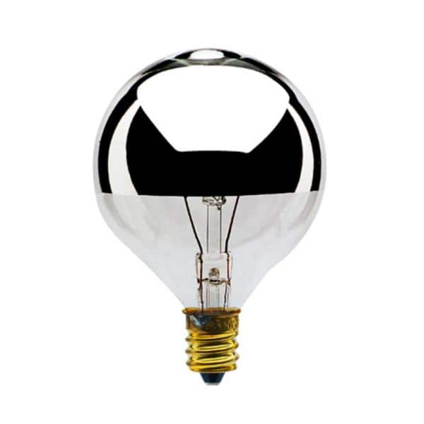 Bulbrite 40 Watt G16 5 Half Chrome Dimmable Warm White Light Incandescent Light Bulb 25 Pack 861159 The Home Depot