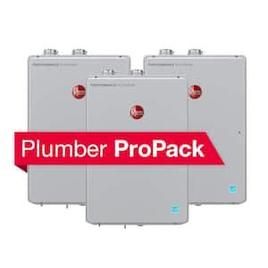 Performance Platinum 9.0 GPM Natural Gas High Efficiency Indoor SMART Tankless Water Heater Plumber ProPack Bundle