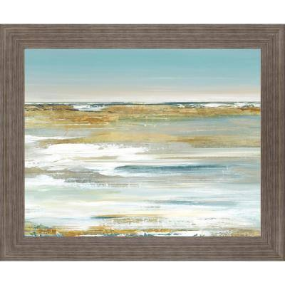 """Blue Horizon"" By Valeria Mravyan Framed Print Abstract Wall Art 28 in. x 34 in."