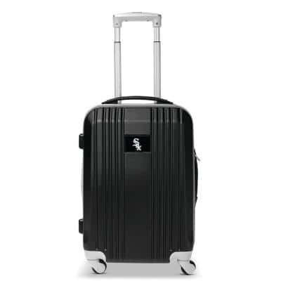 MLB Chicago White Sox 21 in. Gray Hardcase 2-Tone Luggage Carry-On Spinner Suitcase