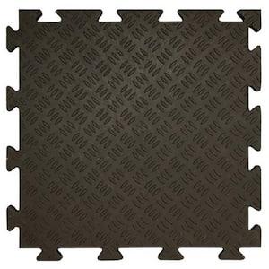 Black 18.5 in W x 18.5 in. L Sentry Interlocking PVC garage tiles (Approximately 36 sq. ft.)