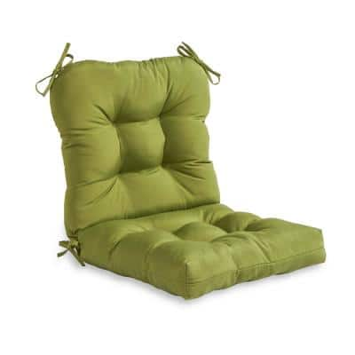 Solid Summerside Green Outdoor Dining Chair Cushion