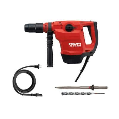 120-Volt SDS Max TE 50-AVR Corded Rotary Hammer Drill Kit with Pointed Chisel, Drill Bit and Power Cord
