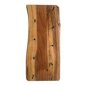 Alpine Live Edge 4 in. L Natural Wood Key Holder