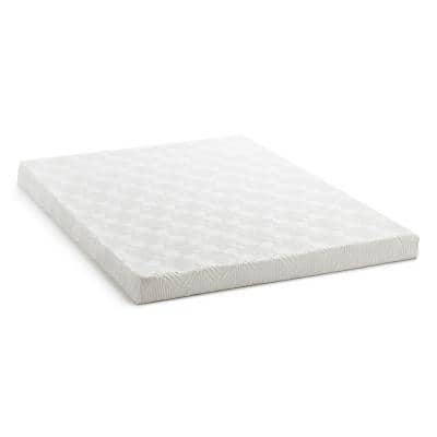 4 in. Twin Gel Memory Foam Mattress Topper with Breathable Cover