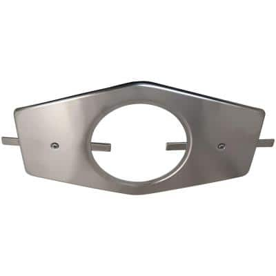 Single-Handle Stainless Steel Repair Plate with Mounting Hardware in Brushed Nickel Finish for Tub/Shower Applications