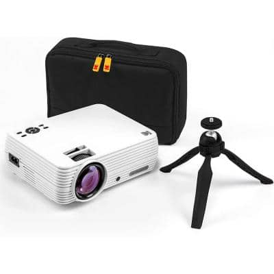 FLIK X4 800 x 480 LCD Home Theater Projector System with 100 Lumens -Tripod and Case Included -Projects Up to 150 in.