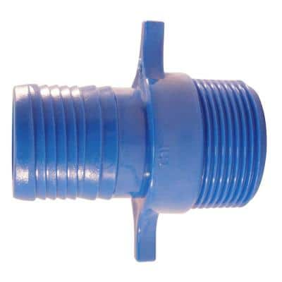 1-1/4 in. Polypropylene Blue Twister Insert x MPT