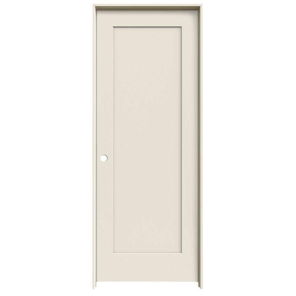 Jeld Wen 24 In X 80 In Madison Primed Right Hand Smooth Molded Composite Mdf Single Prehung Interior Door Thdqc225300272 The Home Depot