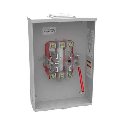 200-Amp 5 Terminal Ringless Heavy Duty Lever Bypass Overhead/ Underground Meter Socket