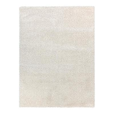 Thayer Ivory 8 ft. x 10 ft. Solid Shag Indoor Area Rug