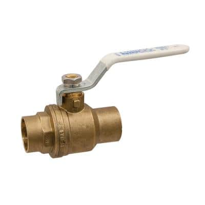 1-1/2 in. Brass Lead-Free Solder Two-Piece Full Port Ball Valve