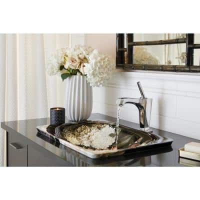 Margaux Single Hole Single-Handle Low-Arc Vessel Bathroom Faucet in Vibrant Polished Nickel