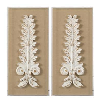 Framed Abstract Wall Art 27.4 in. x 13.4 in.