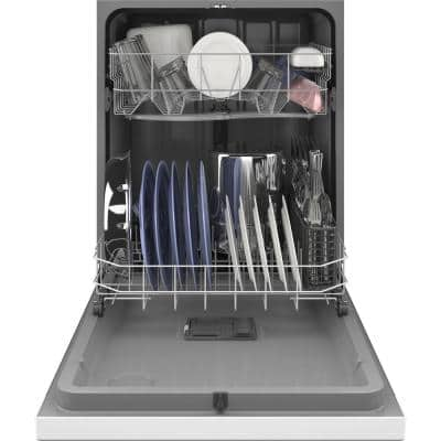 24 in. in White Front Control Built-In Tall Tub Dishwasher 120-volt
