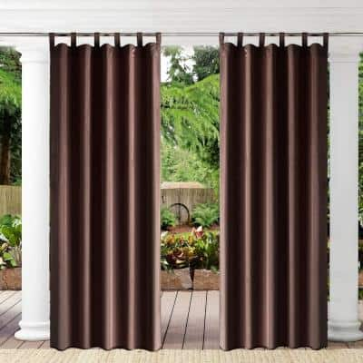 Tan Novelty Thermal Grommet Blackout Curtain - 50 in. W x 108 in. L