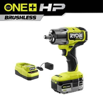ONE+ HP 18-Volt Brushless Cordless 4-Mode 1/2 in. Impact Wrench Kit with (1) 4.0 Ah Lithium-Ion Battery, Charger and Bag