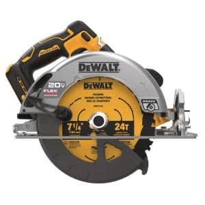 20-Volt MAX Cordless Brushless 7-1/4 in. Circular Saw with FLEXVOLT ADVANTAGE (Tool Only)