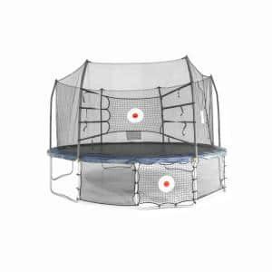 ActivPlay 15 ft. x 13 ft. Oval Trampoline Combo with Kickback and Bounce Back with Navy Spring Pad